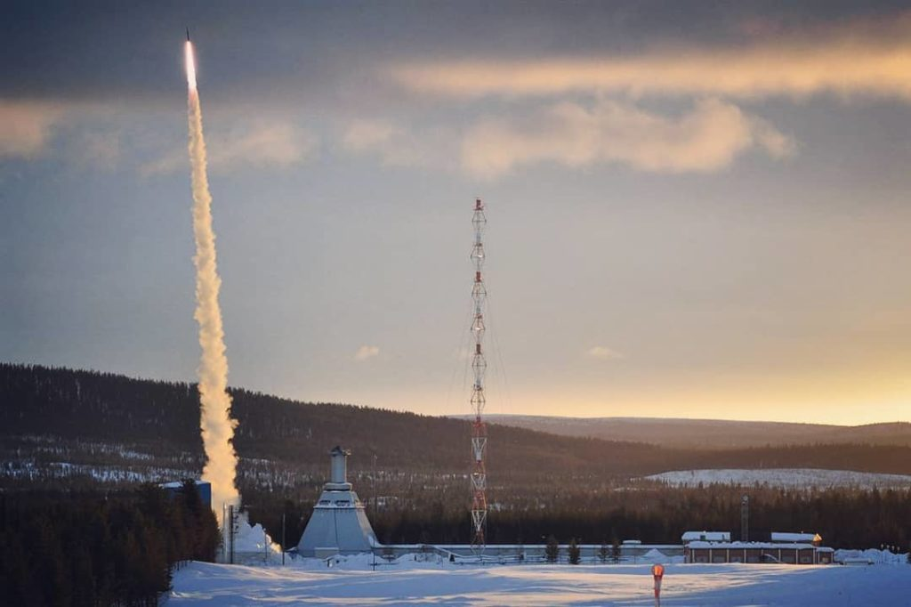 Rexus rocket launch in Kiruna, Sweden