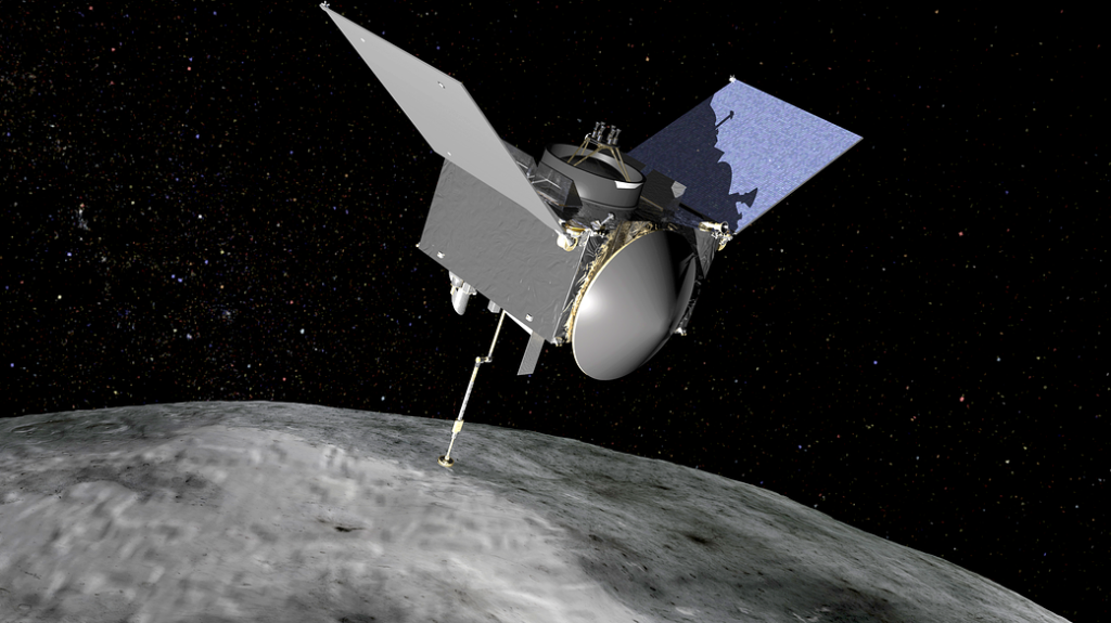 OSIRIS-REx on asteroid Bennu