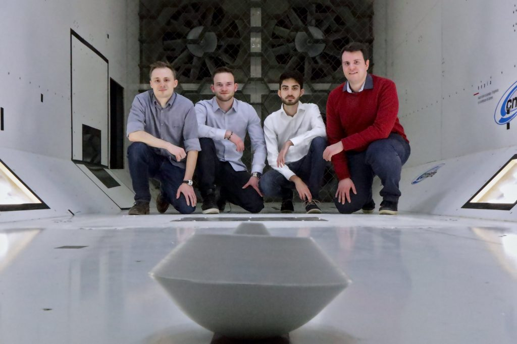 Geneva team in wind tunnel
